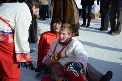 Feast Maslenitsa in Tomsk. Feast of Wire Winter Maslenitsa in Tomsk, Siberia, Russia Stock Photo