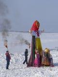 Feast Maslenitsa in Tomsk Stock Photo