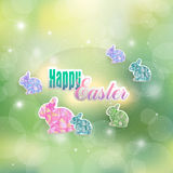 The feast of the Passover with hares Royalty Free Stock Image