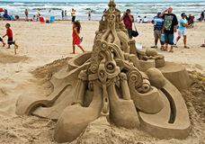 A feast on Sand Castle Day Stock Photos