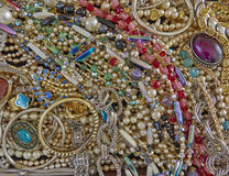 A feast of shiny jewelry Stock Photos