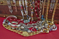 A feast of shiny jewelry Royalty Free Stock Images