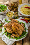 Feasting - Baked chicken stuffed Stock Photography