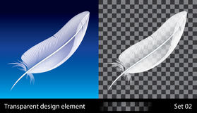 Feather. Illustration with transparent effect.  EPS (10) file included Stock Photography