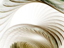 Feather Arches, Light. Feathery textured curves and arches (computer generated, fractal abstract background Royalty Free Stock Image