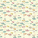 Feather arrow seamless pattern Stock Images