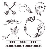 Feather and arrows Royalty Free Stock Images