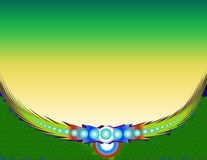 Feather background vector illustration