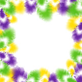 Feather background for Fat Tuesday stock illustration