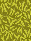 Feather background- yellow Royalty Free Stock Images