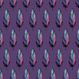 Feather bird seamless pattern Royalty Free Stock Image