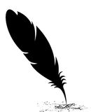 Feather blots Royalty Free Stock Photography