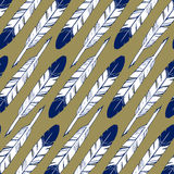 Feather blue pattern background Royalty Free Stock Image