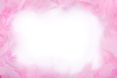Feather boa frame. Pink feather boa frame with space for copy Royalty Free Stock Photography