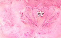 Feather boa and tiara Royalty Free Stock Photography