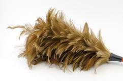 Feather broom isolated on white Stock Photography