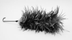 Feather broom isolated on white color background royalty free stock photography