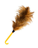 Feather broom on white,clipping path Royalty Free Stock Photo