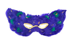 Feather cat mask. Separated on white background royalty free stock photo