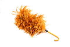 Feather cleaning. On isolated white background Royalty Free Stock Images