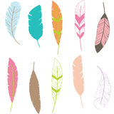 Feather Clip art,Feather Pattern. Stock Photos