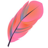 Feather clipart. Pink bright feather clipart/icon (vecrot illustration royalty free illustration