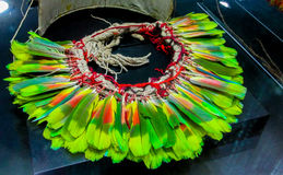 Feather crown of native american indians royalty free stock photo