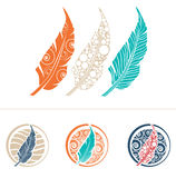 Feather Design Set Stock Photography