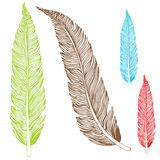 Feather Drawing Royalty Free Stock Photography