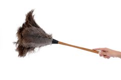 Feather Duster. An isolated feather duster and a hand Stock Images