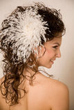 Feather hairpin Stock Photography