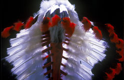Feather headdress of the American Indian. Stock Images