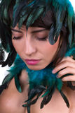 Feather headpiece Royalty Free Stock Images