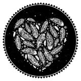 Feather heart Stock Photo