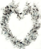 Feather heart frame Stock Photo