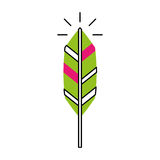 Feather hippie style icon. Vector illustration design Stock Photo