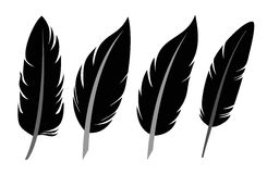 Feather icon set Stock Photography