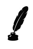 Feather icon Royalty Free Stock Photography