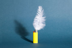Feather lighter Royalty Free Stock Images