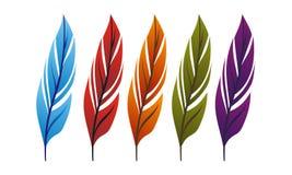 Feather Logo Design Template. Vector Royalty Free Stock Photo