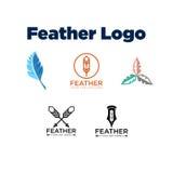 Feather Logo Template Stock Photo
