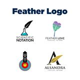 Feather Logo Template Royalty Free Stock Photo