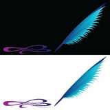 Feather painted Stock Photography