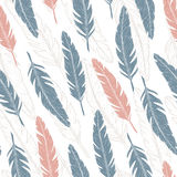 Feather pattern. Royalty Free Stock Photo