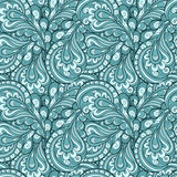 Feather pattern. Abstract blue feathers seamless pattern Royalty Free Stock Photo