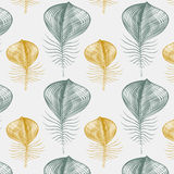 Feather pattern background Stock Images