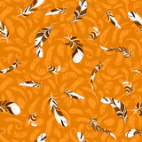 Feather pattern. Fly feather pattern. vector background Royalty Free Stock Image