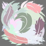 Feather pattern illustration Stock Photography