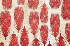 Feather pattern paper. Close up of feather pattern paper, texture background Royalty Free Stock Photo