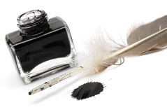 Feather pen set of abstract colour Stock Photography
